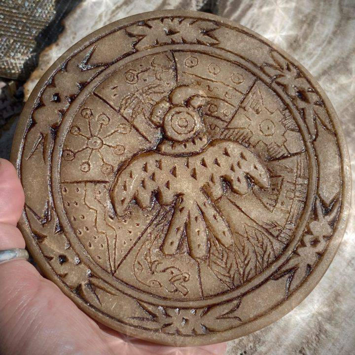 Hand Carved Andean Condor Symbology Tiles