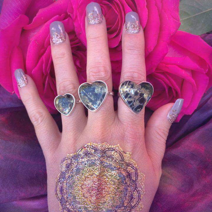 Healers Gold Heart Rings