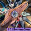 Snake and Gemstone Leather Cuff Bracelets