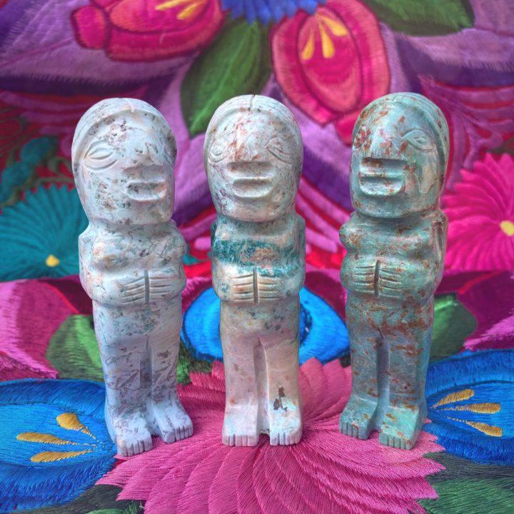 Chrysocolla Pachamama Healing and Harmony Statues