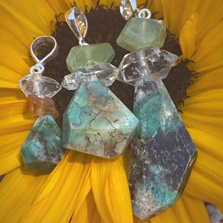Natural Emerald Eternal Love Pendants