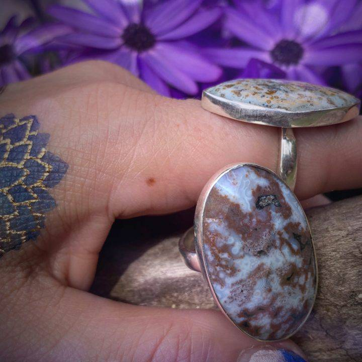Ocean Jasper Happiness Rings