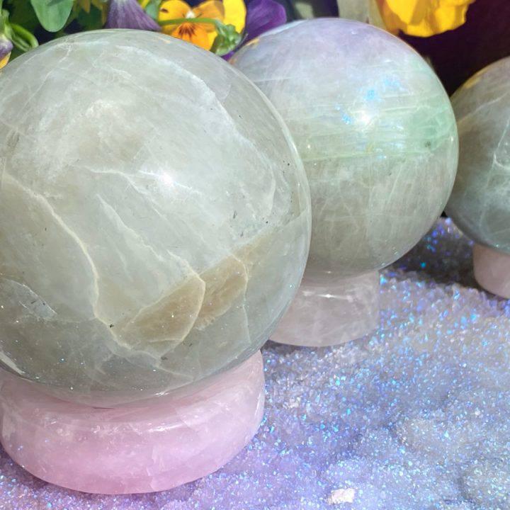 Rose Quartz Universal Love Sphere Stands