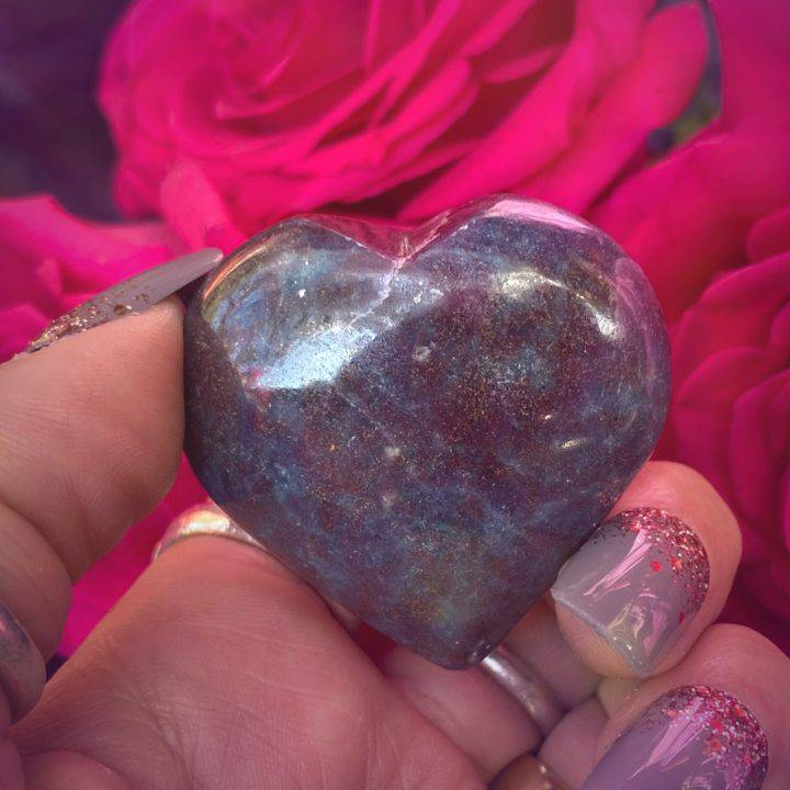 Ruby Kyanite Heart