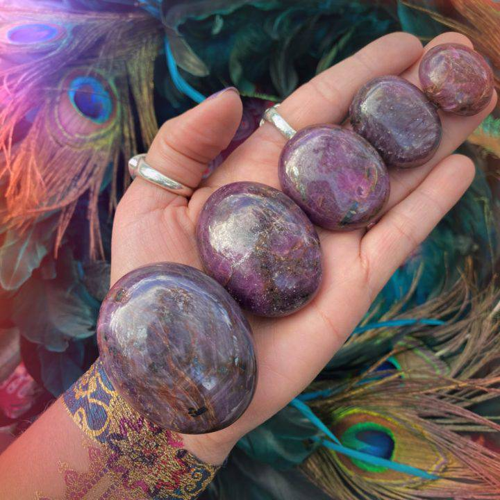 Ruby Love and Life Force Palm Stones
