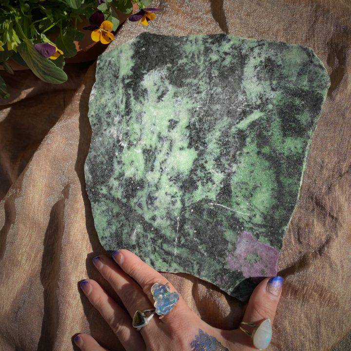 Ruby Zoisite Plate