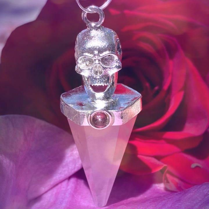 Skull and Gemstone Pendulums