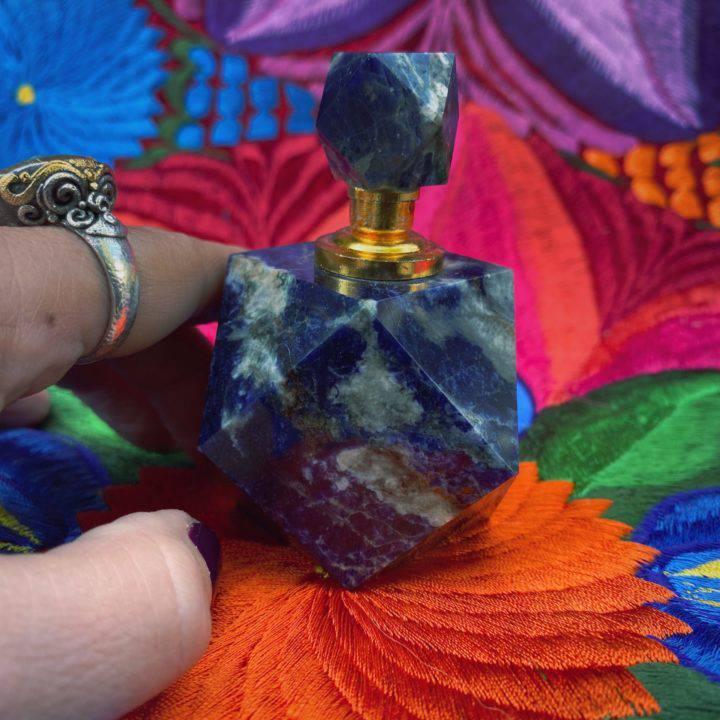 Sodalite Perfume Bottle