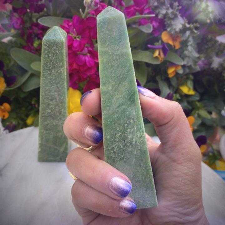 Grossularite Green Garnet Obelisks