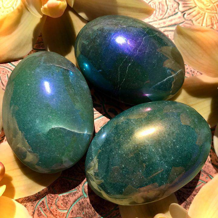 Aura Green Aventurine Palm Stones