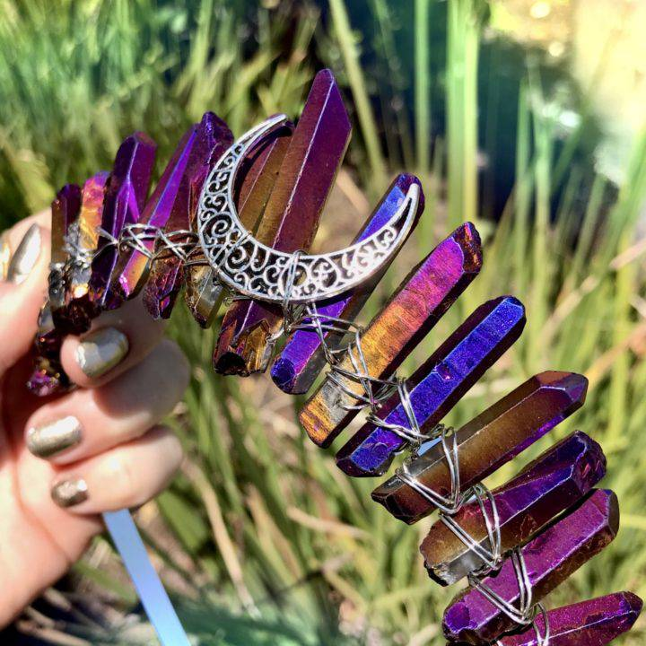 Aura Quartz OMGoddess Crowns