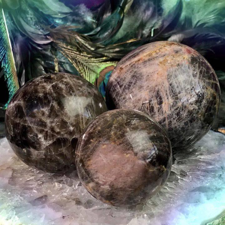 Black Moonstone Visioning Spheres