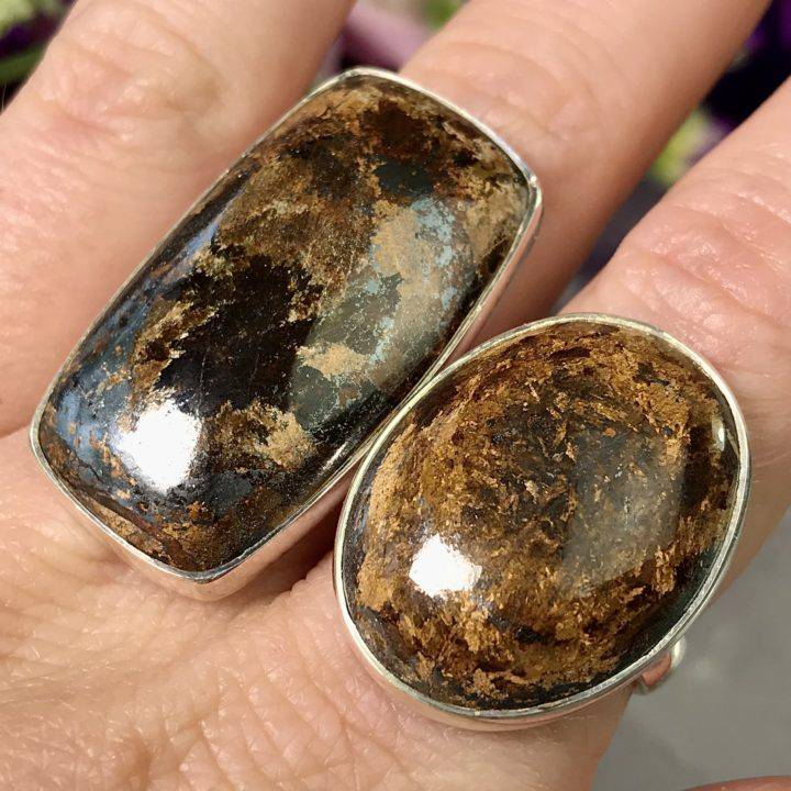 Bronzite Releasing Rings