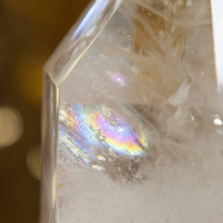 Clear Quartz Generator with Rainbows
