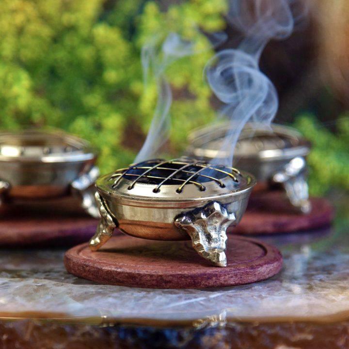Brass Screen Charcoal Incense Burners