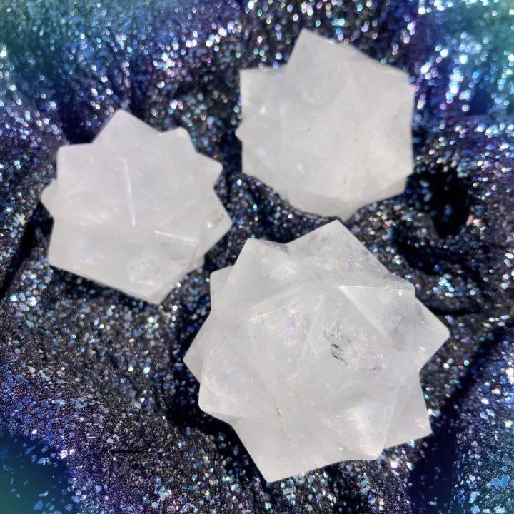 Clear Quartz 3D Metatrons Cubes