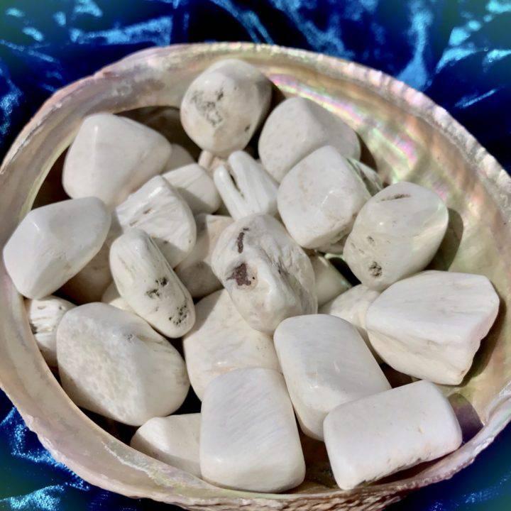 Tumbled Scolecite
