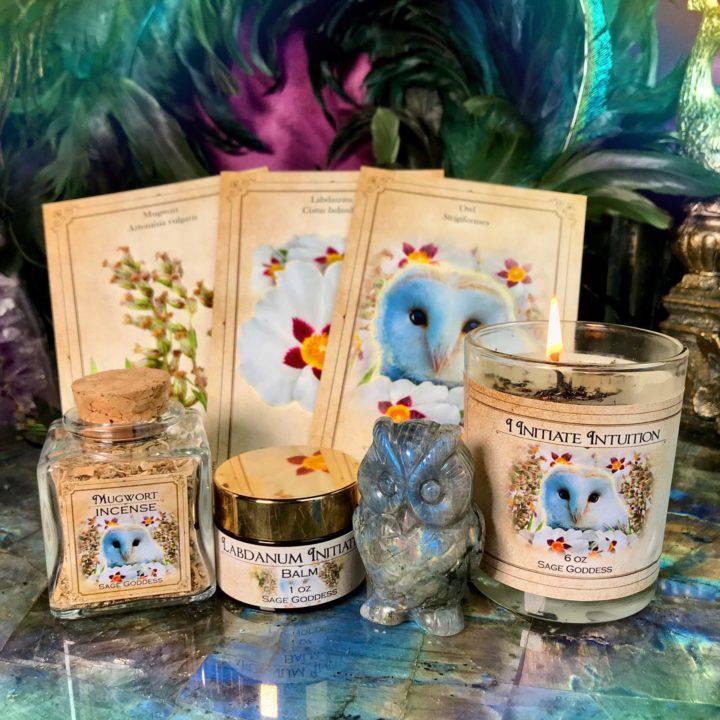 New Moon Enchanted Plant Wisdom: Mugwort and Labdanum Set