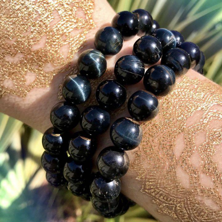Blue Tigers Eye Journey Bracelets