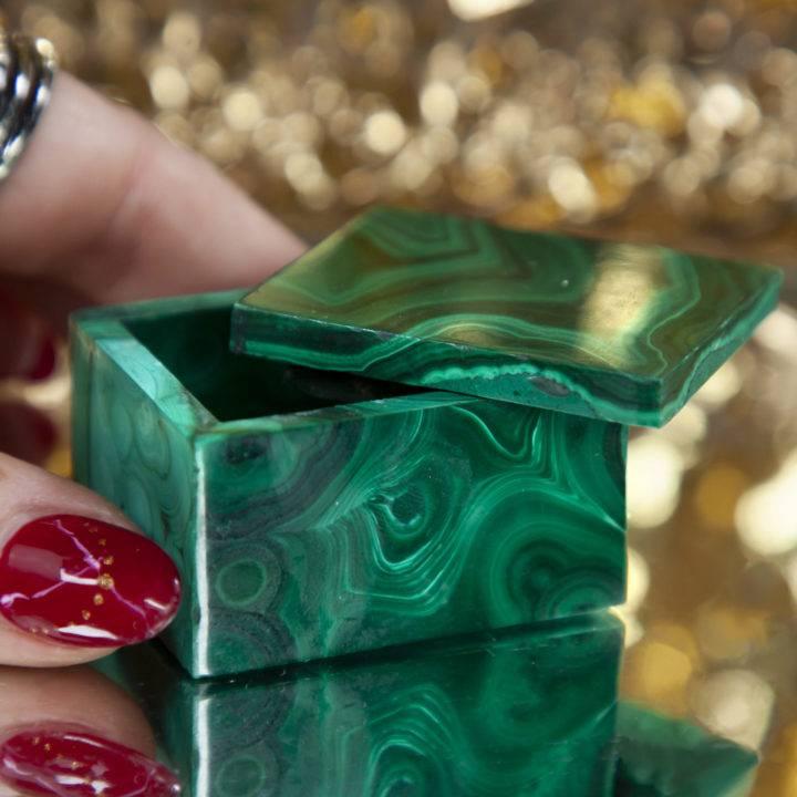 Malachite Healing Box