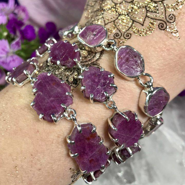 Natural Ruby Record Keeper Bracelets