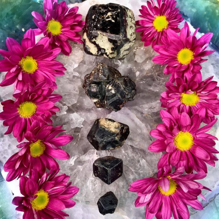 Psychic Shielding Melanite Garnet