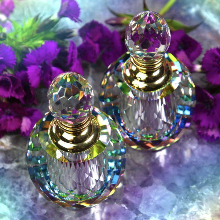 Rainbow Crystal Perfume Bottle with Intuitively Chosen Perfume
