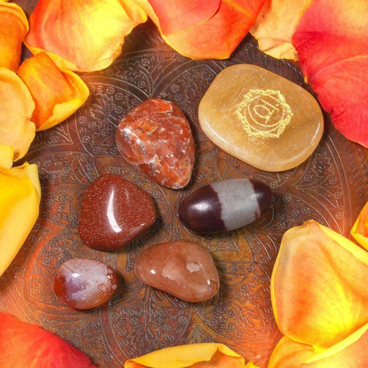 Sacral Chakra Pleasure and Passion Gem Set