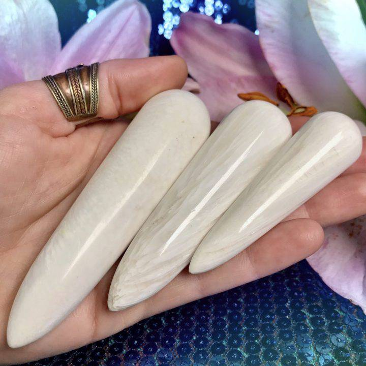 Scolecite Channeling Wands