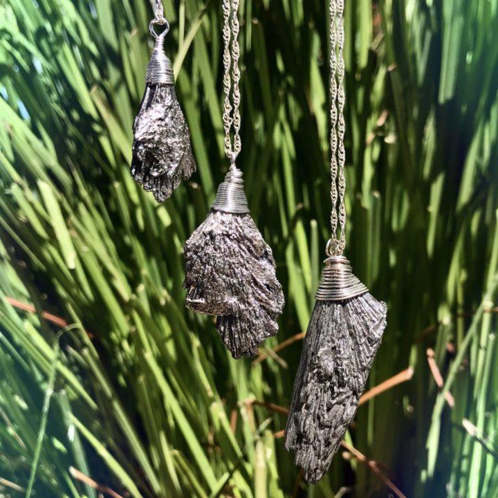Silver Kyanite Moon Magic Pendants