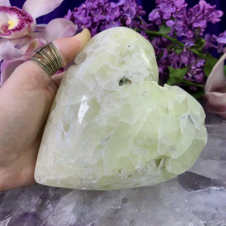 Sulfur Quartz Heart