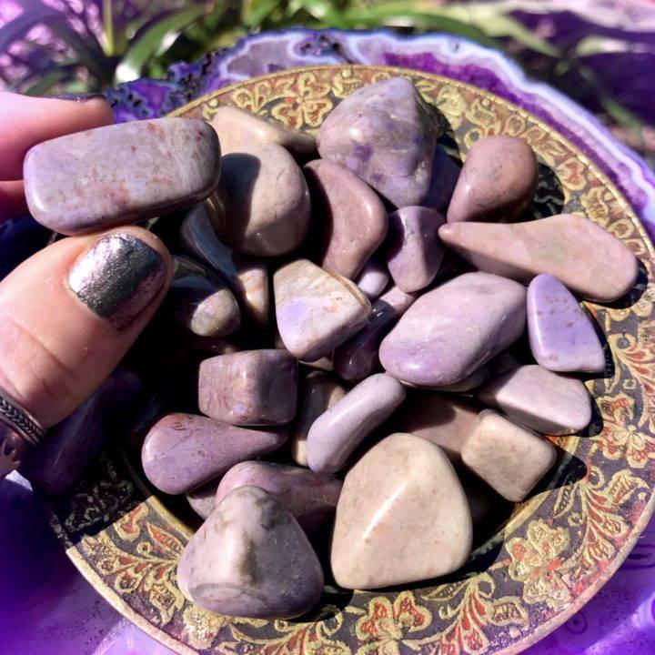 Tumbled Purple Jade