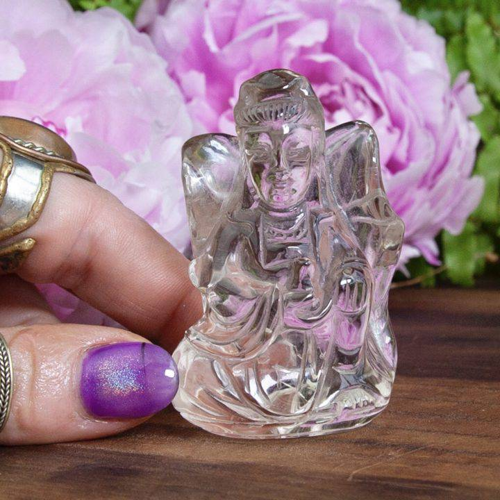 The 7 Gods of Good Fortune Clear Quartz Carvings