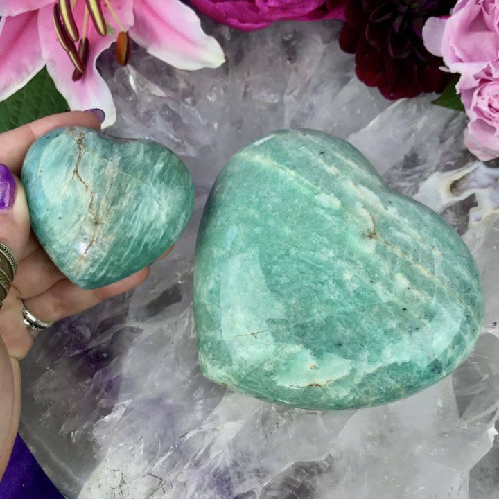 Amazonite Hearts