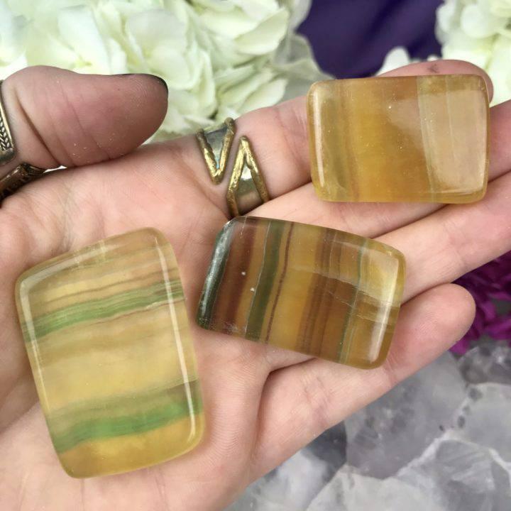 Argentina Rainbow Yellow Fluorite Slices