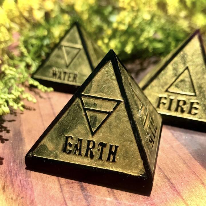 Black Obsidian Elemental Pyramids