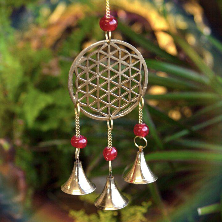 Brass Flower of Life Chimes
