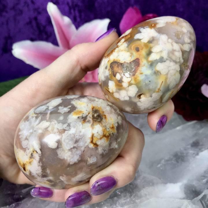 Flower Agate Eggs