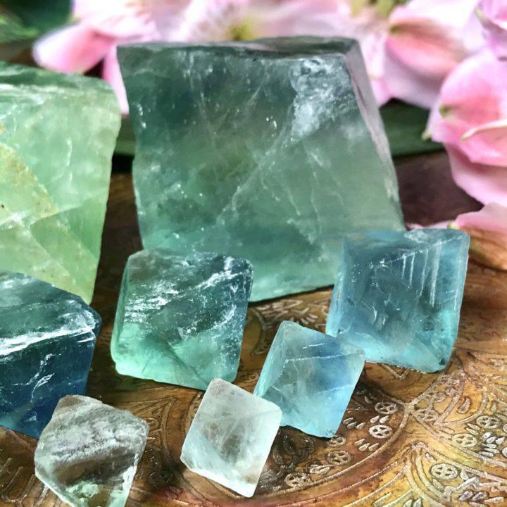 Fluorite Diamond Code Octahedrons