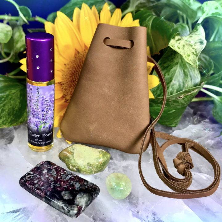 Healing Medicine Bag with Stone Ste and Master Healer Perfume