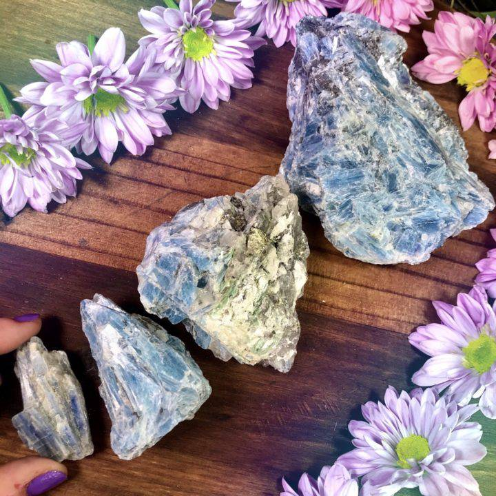 Natural Blue Kyanite with Quartz