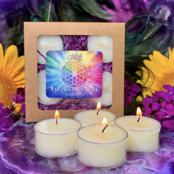 Flower of Life Tea Lights