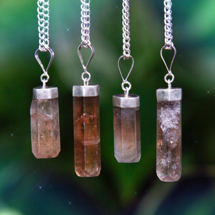 Champagne Topaz Strength Pendants
