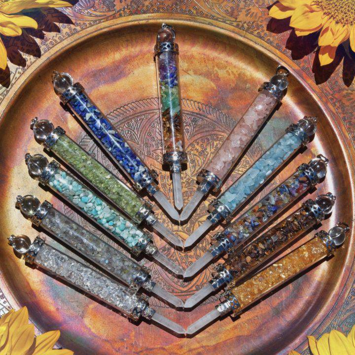 Intuitively Chosen Gemstone Wand Pendants