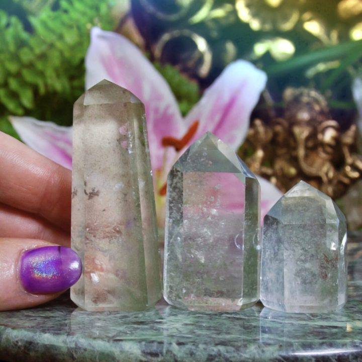 Magnified Healing Clear Quartz with Chlorite Generators