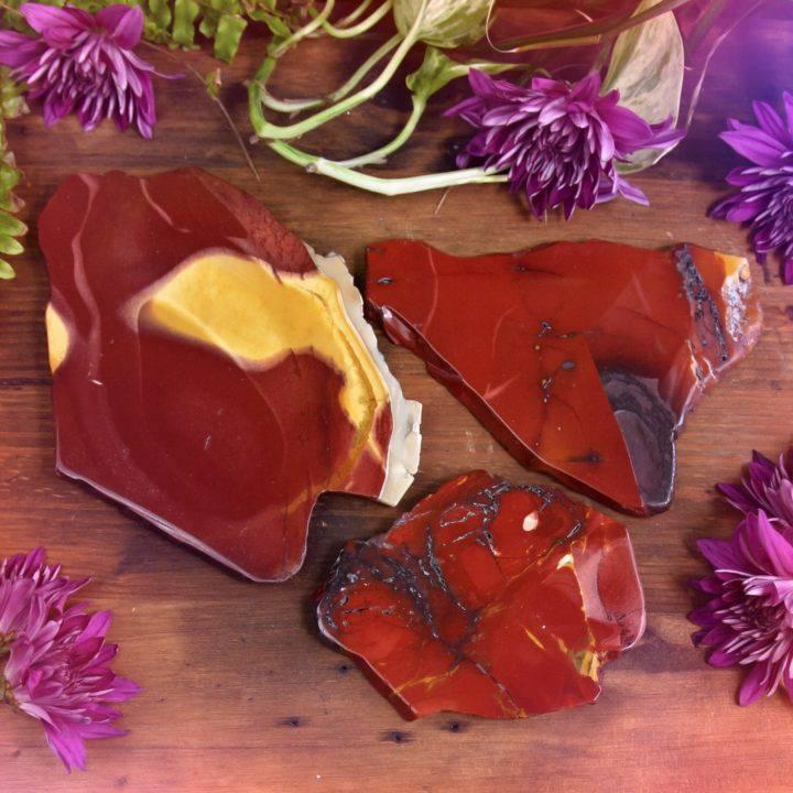Mookaite Jasper Beauty Slices