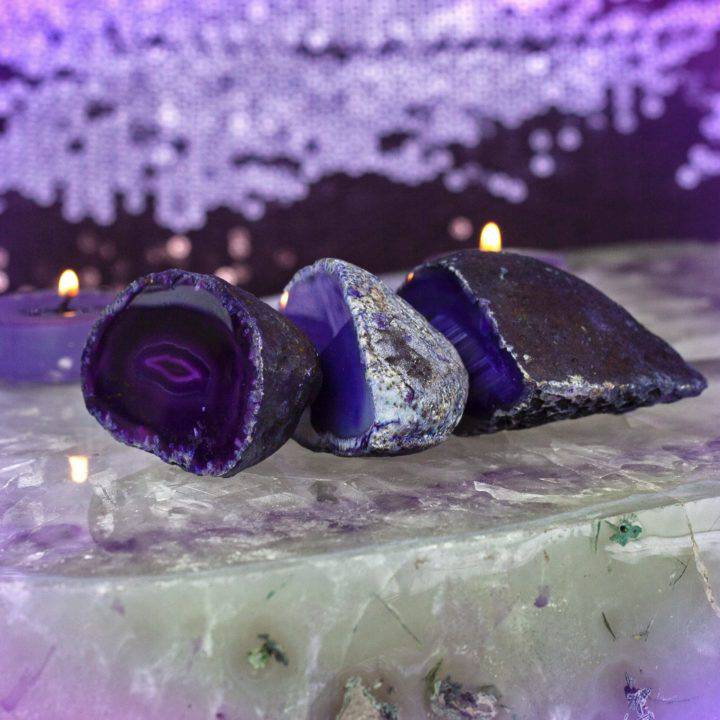 Purple Agate Violet Flame Portal Geodes