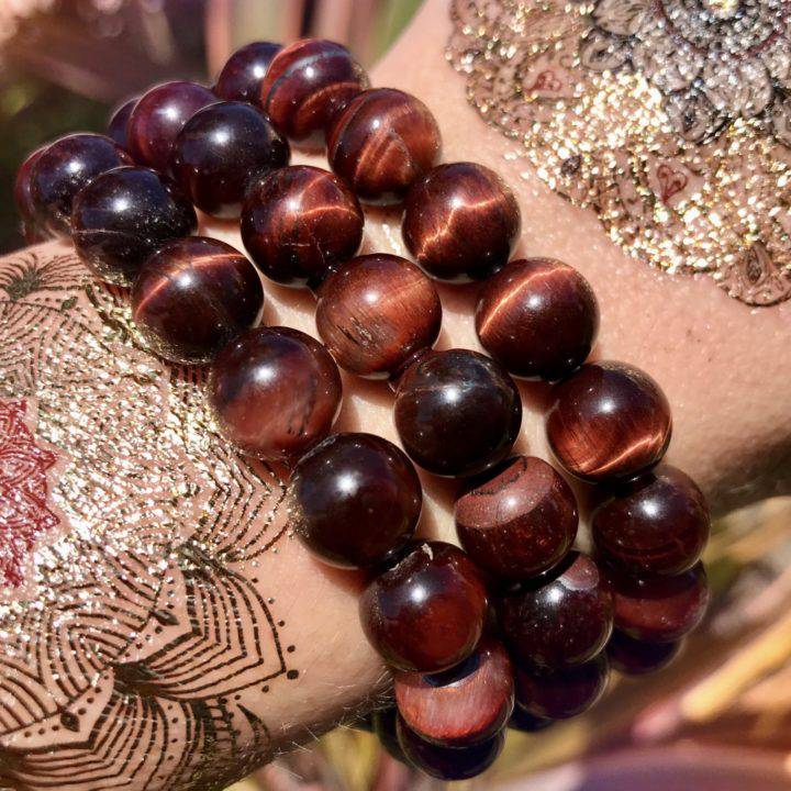 Red Tigers Eye Grounded Guidance Bracelets