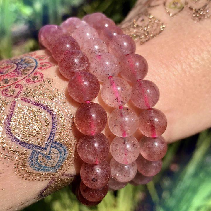 Strawberry Quartz Love Bracelets
