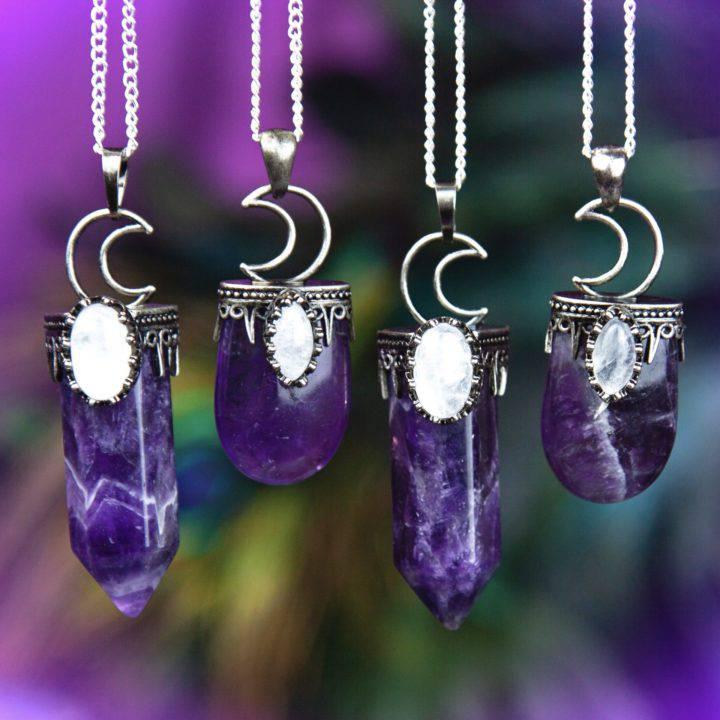 Amethyst Moon Magic Pendants